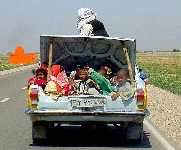 North Afghanistan, carboot full of children