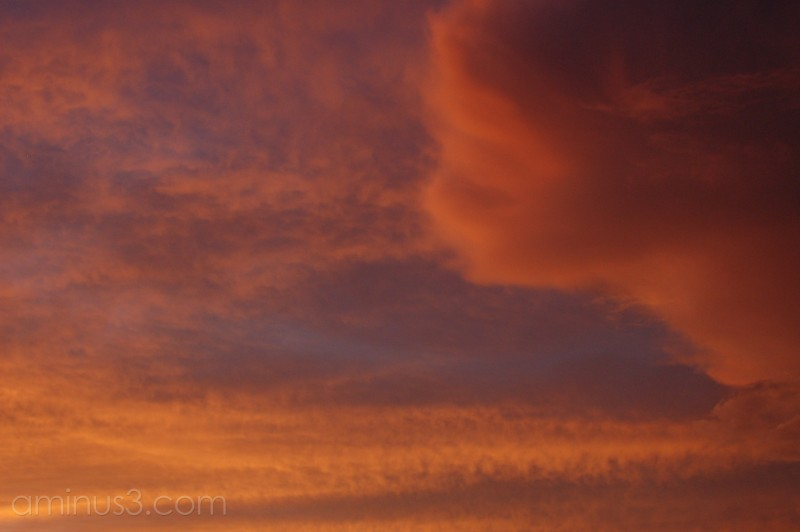 Post-sunset sky