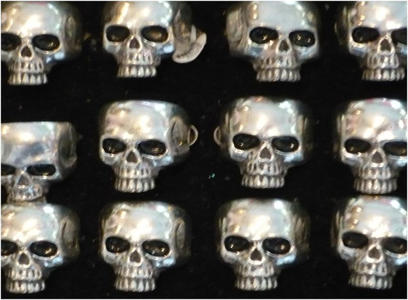 Dayofthedead diadelosmuertos skulls jewlery rings