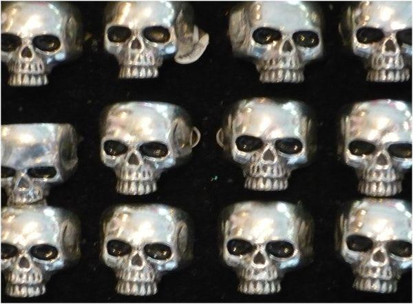Dayofthedead diadelosmuertos skulls jewlery rings