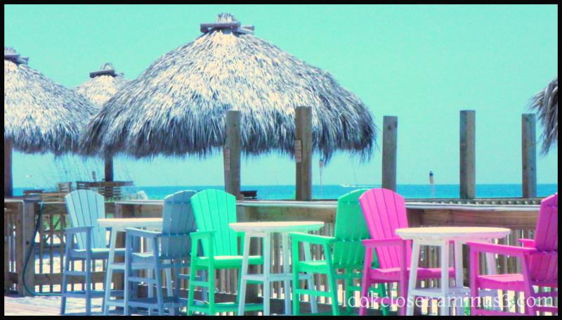 bright colors Anna-Maria Island beachfront restaur