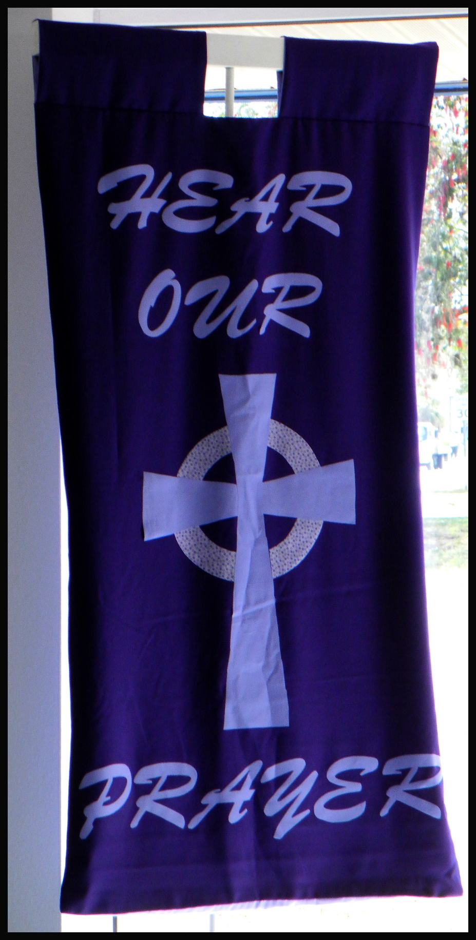 purple banner prayer petition