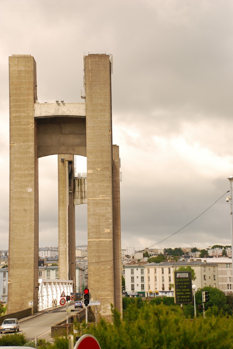 The recourvance bridge in Brest, France
