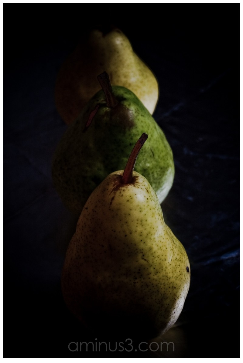 three pears in a row