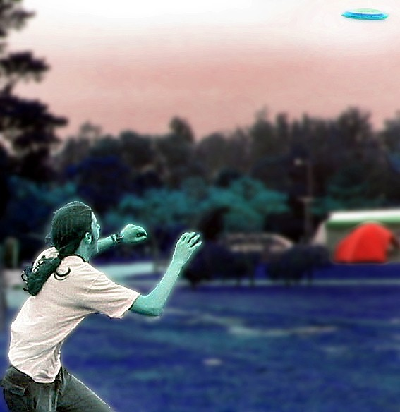 frizbee catch