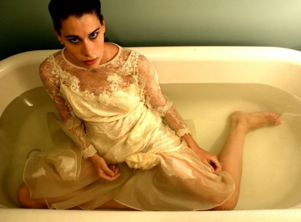 Gown and Bathtub
