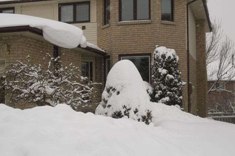 Snowy Overhang