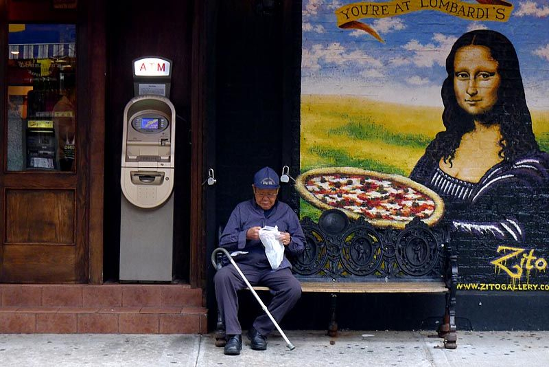 Pizza parlour in Nolita