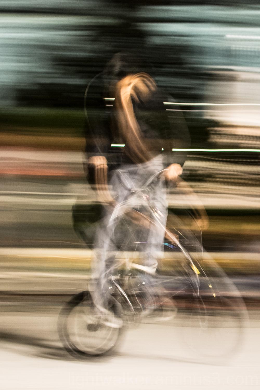 A bike jumper in Madrid, Spain