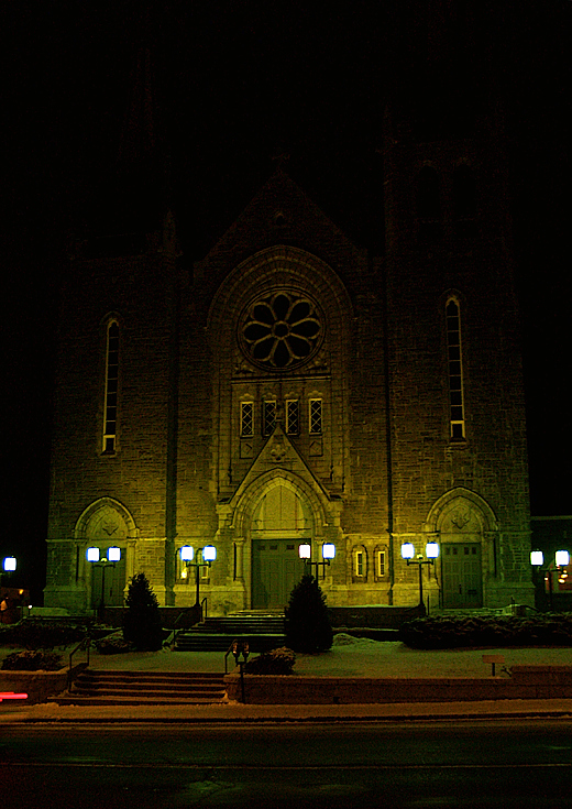 église de nuit - church by night