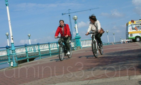 Cyclists, Southport, April 2003