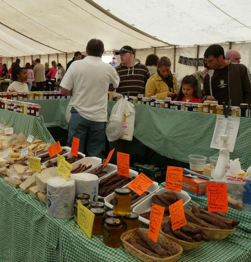 Cheeses for sale at Gee Cross Fete
