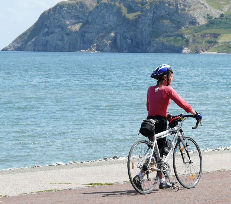 Cyclist at Llandudno