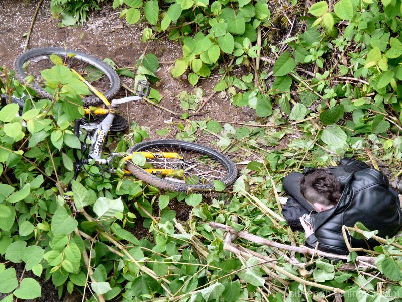 cyclist taking a break