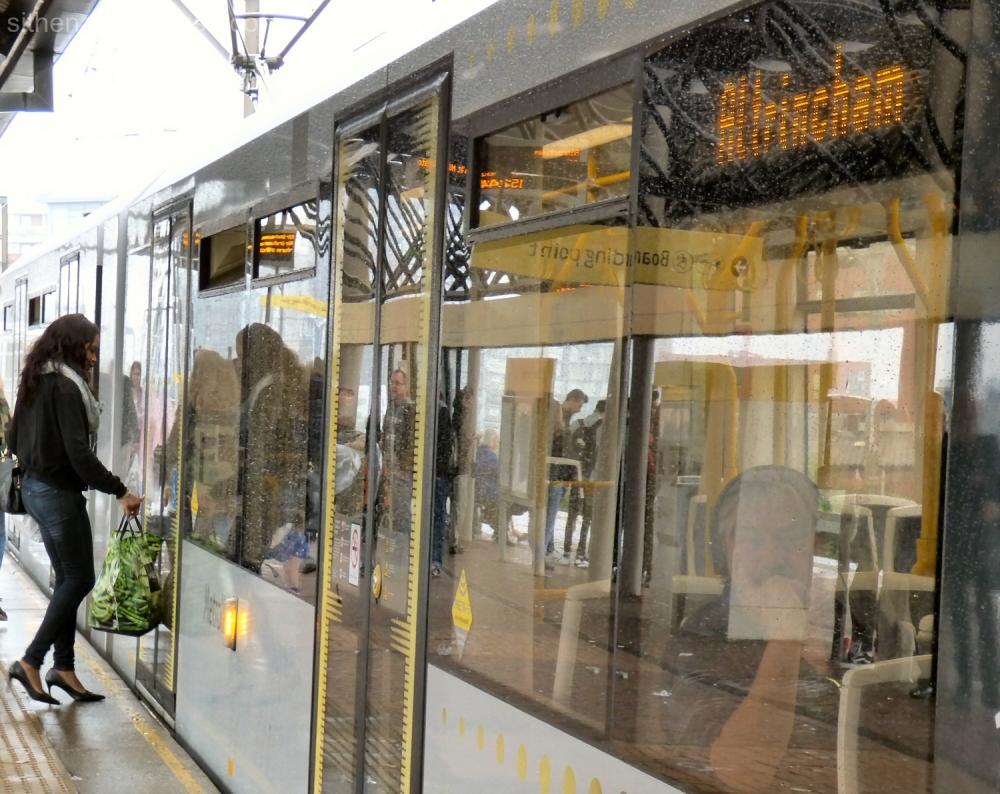 Altrincham tram at Cornbrook