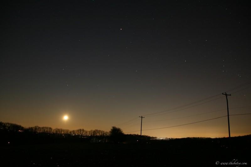 birchrunville fields christmas night full moon