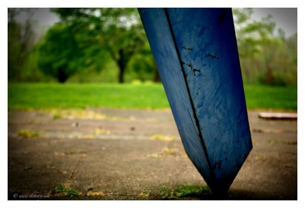 lockridge blue sculpture abstract