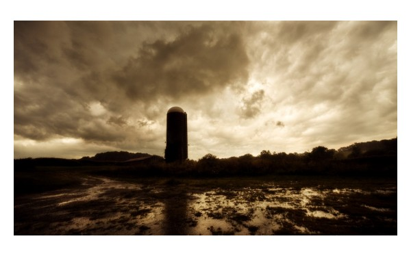 storm clearing clouds silo farm lionville abandone