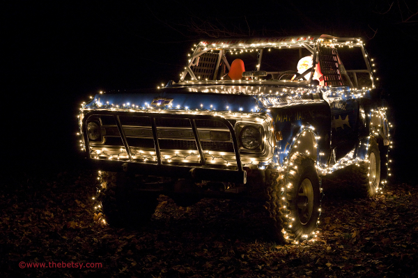 santa truck christmas lights