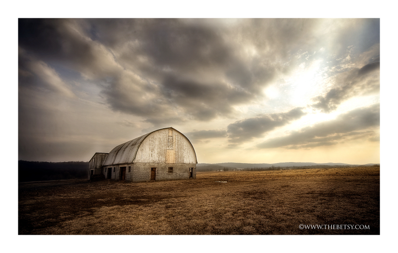 farm landscape sunset barn spring sky hdr