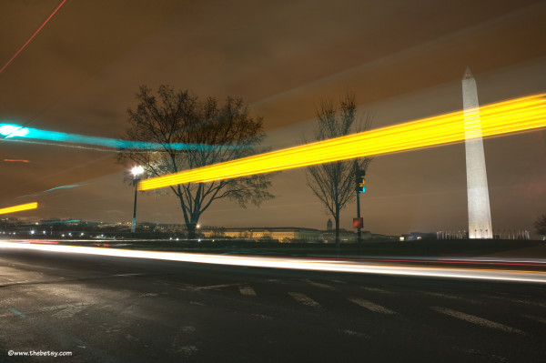 dc, long-exposure, traffic, lights, washington-mon