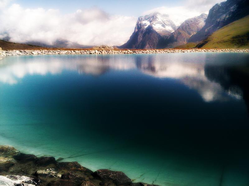 switzerland, mannlichen, alps, mountains, lake, sk