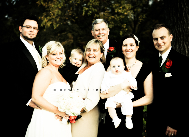portrait, family, wedding, bride, groom