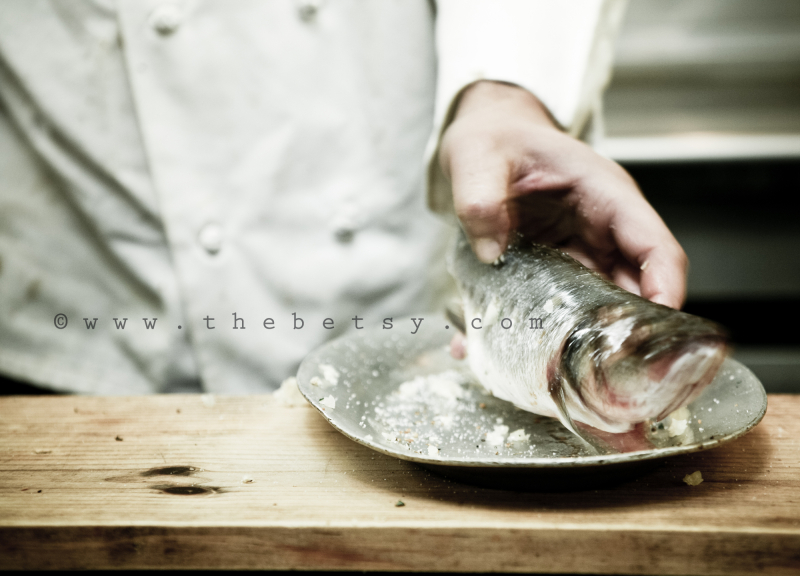 fish, food, prepare, cooking, chef