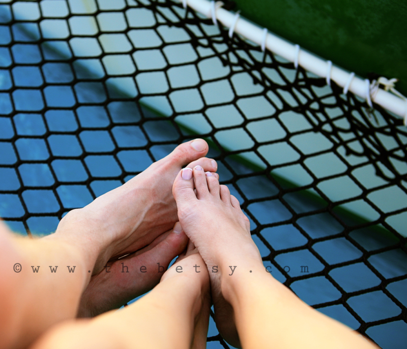 portrait, feet, catamaran, sailing, net, ocean