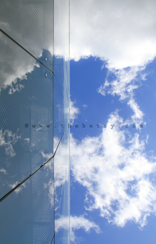 sky, clouds, blue, building, architecture, london