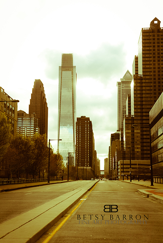 city, philadelphia, sky, buildings, avenue