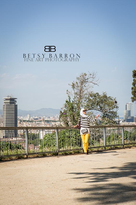 barcelona, spain, woman, selfie, iPhone, vista