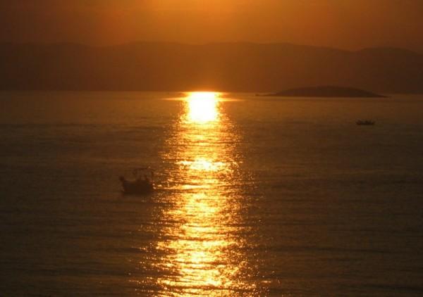 sunset sea summer