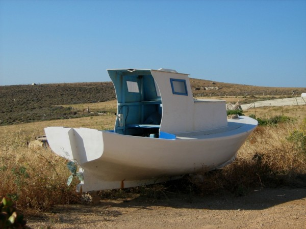 Astypalea island Chora boat