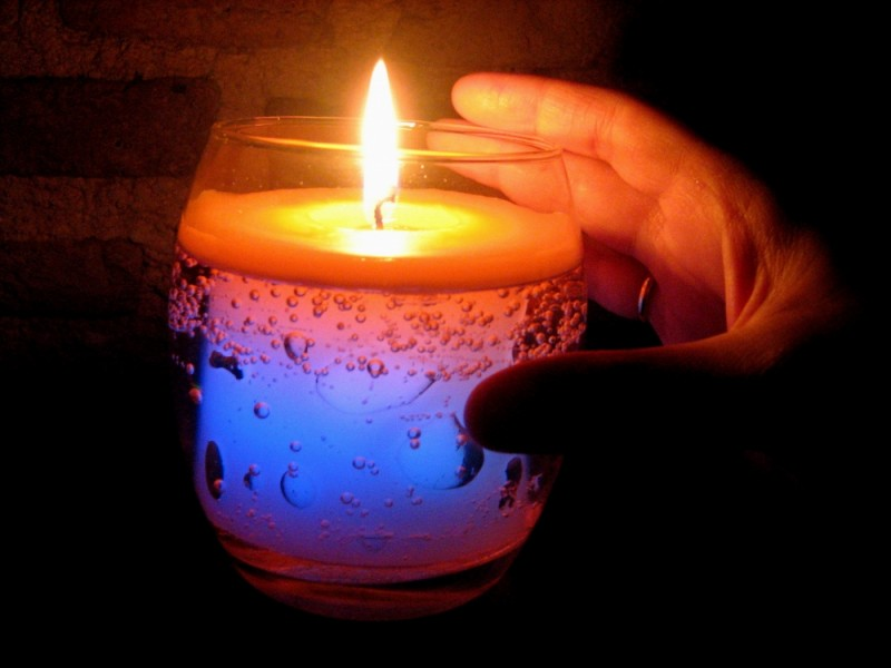candle light color bubbles