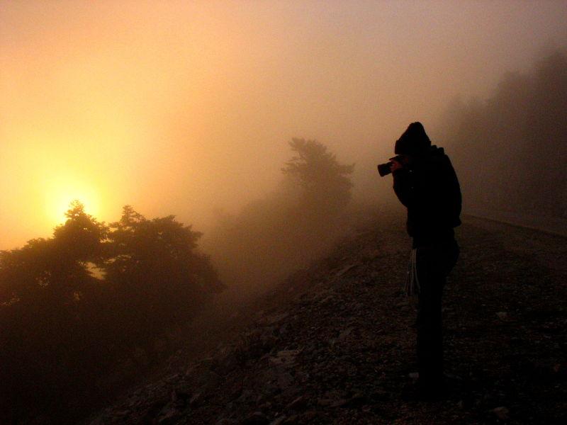 fog fog sunset Kitheronas mountain dad