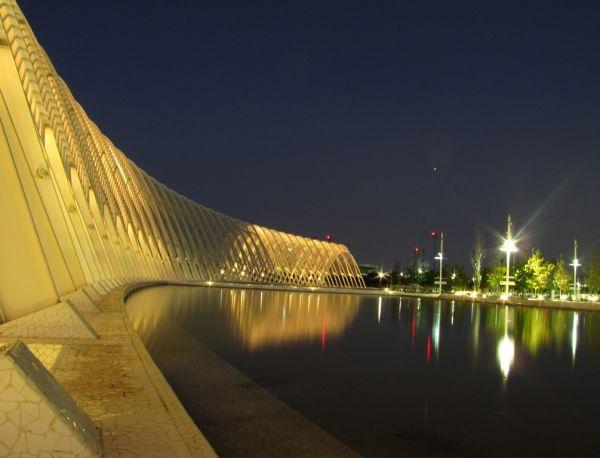 Olympic Stadium Athens outside night