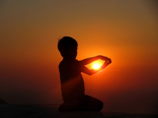 Santorini sunset brother
