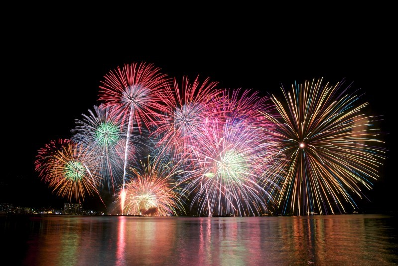 Fireworks in Lake Biwa, Shiga, Japan