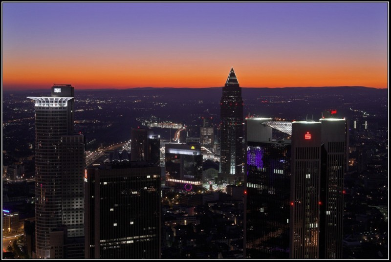 Sunset over Frankfurt