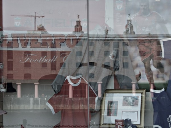 photo of reflections in a shop window