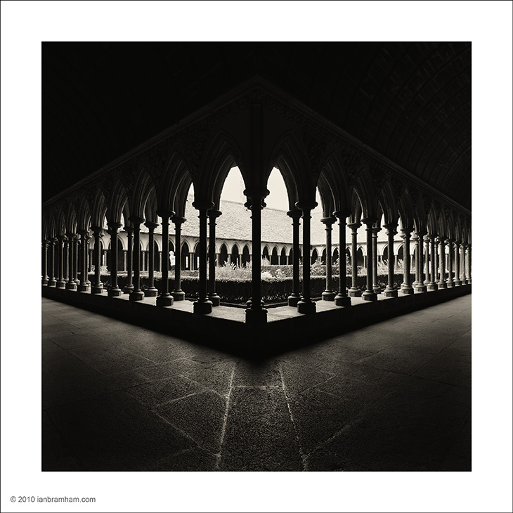 Cloisters, Mont St. Michel.