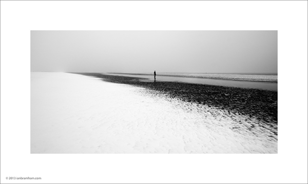 Snow on Crosby Beach