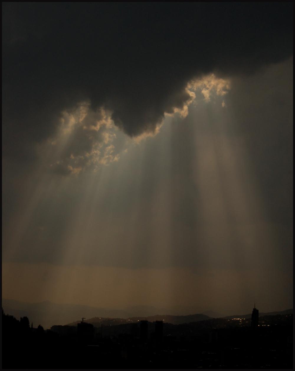 The sky above Sarajevo