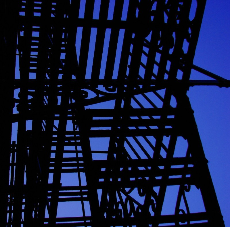 Fire Escape against a blue sky