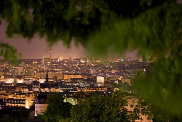 Paris by Night From Above