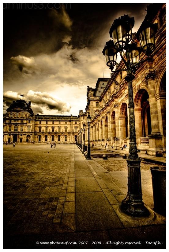 Le Louvre's Courtyard