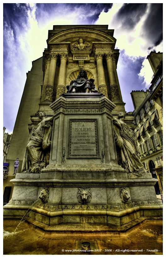 The Statue of Moliere (Aka Jean-Baptiste Poquelin)