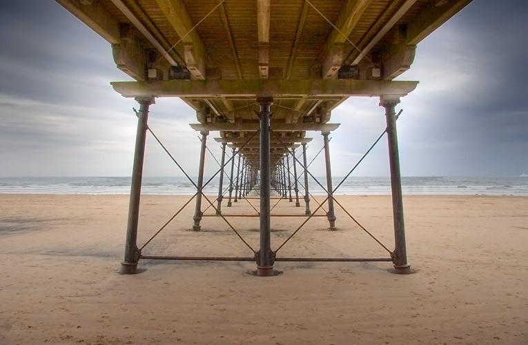 Under Saltburn Pier