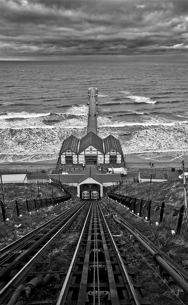 saltburn, pier, beach, sea, seaside, winter, rough